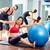 mujer · embarazada · pilates · vio · ejercicio · entrenamiento · gimnasio - foto stock © lunamarina