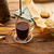 koffie · vintage · machine · hout · houten · tafel - stockfoto © lunamarina