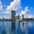 Orlando · sziluett · tó · Florida · USA · város - stock fotó © lunamarina