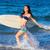 dalgalar · genç · sörfçü · kız · çalışma · sörf - stok fotoğraf © lunamarina