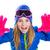 szőke · gyerek · tél · hó · portré · nyitva - stock fotó © lunamarina