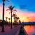 jacht · kikötő · naplemente · nagy · lila · fény - stock fotó © lunamarina