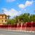 histórico · edificio · flores · Windows · entrada · de · coches · casa - foto stock © lunamarina