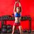 crossfit · kobieta · fitness · pompek · wykonywania · siłowni · treningu - zdjęcia stock © lunamarina