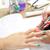 körmök · festmény · nő · ecset · manikűrös · kezek - stock fotó © lunamarina