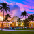 Miami · tengerpart · dél · naplemente · pálmafák · Florida - stock fotó © lunamarina