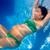 kadın · yüzme · sualtı · havuz · gülen · genç - stok fotoğraf © lunamarina