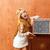 szőke · klasszikus · 70-es · évek · gyerek · lány · retro - stock fotó © lunamarina