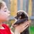 menina · cachorro · animal · de · estimação · cão · jogar · beijando - foto stock © lunamarina
