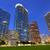 Houston · şehir · merkezinde · gün · batımı · gökdelenler · Teksas · modern - stok fotoğraf © lunamarina