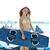 十代の少女 · 立って · ビーチ · 風船 · 日 · 時間 - ストックフォト © lunamarina
