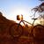 mountain bike mtb sunset in denia at montgo stock photo © lunamarina