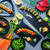 asian japan sushi varied recipes with algae stock photo © lunamarina