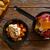 tapas · törött · tojások · asztal · olajbogyó · eszik - stock fotó © lunamarina
