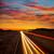 arizona sunset at freeway 40 with cars light traces stock photo © lunamarina