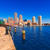 boston skyline from fan pier sunlight massachusetts stock photo © lunamarina