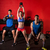 kettlebell swing workout training group at gym stock photo © lunamarina