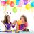 children happy birthday party girls with balloons stock photo © lunamarina