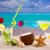 cocco · cocktail · succo · starfish · spiaggia · tropicale · tropicali - foto d'archivio © lunamarina