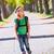 blond · ontdekkingsreiziger · kid · meisje · lopen · rugzak - stockfoto © lunamarina