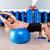 dumbbell bench press on fit ball man gym workout stock photo © lunamarina