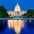 Bina · akşam · karanlığı · Washington · DC · ABD · gökyüzü · su - stok fotoğraf © lunamarina