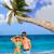nővérek · bikini · tengerpart · Karib · tenger · pár - stock fotó © lunamarina