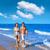 カップル · 小さな · 徒歩 · ビーチ · 海岸 · 夏休み - ストックフォト © lunamarina
