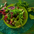 fresh green salad with spinach lettuce stock photo © lunamarina