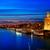 seville sunset skyline torre del oro in sevilla stock photo © lunamarina