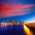 coucher · du · soleil · lumières · centre-ville · parc · bureau · maison - photo stock © lunamarina