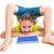 flexible · nino · nina · jugando · blanco - foto stock © lunamarina