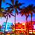 Miami · dél · tengerpart · naplemente · óceán · vezetés - stock fotó © lunamarina