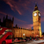 big ben clock tower with london bus stock photo © lunamarina