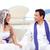 novia · Pareja · recién · casados · mediterráneo · nina · boda - foto stock © lunamarina