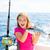 девушки · рыбалки · тунца · Троллинг · Средиземное · море - Сток-фото © lunamarina
