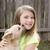 loiro · crianças · menina · cão · cachorro · mini - foto stock © lunamarina