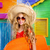 blond kid surfer girl tropical vacations with sunglasses stock photo © lunamarina