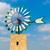 witte · oude · windmolen · blauwe · hemel · gebouw · landschap - stockfoto © lunamarina