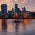 Londra · financial · district · ufuk · çizgisi · gün · batımı · kare · şehir - stok fotoğraf © lunamarina