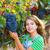 farmer kid girl in vineyard harvest autumn leaves in mediterrane stock photo © lunamarina