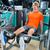 blond · man · gymnasium · sterkte · oefening - stockfoto © lunamarina