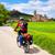 bisiklet · yol · aziz · Bina · kilise · mavi - stok fotoğraf © lunamarina