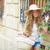 blond tourist girl in mediterranean old town stock photo © lunamarina
