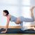 bella · donna · incinta · palestra · fitness · esercizio - foto d'archivio © lunamarina