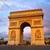 Arc · de · Triomphe · cielo · blu · Parigi · Francia · costruzione · costruzione - foto d'archivio © lunamarina