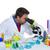 kimyasal · laboratuvar · bilim · adamı · adam · bakıyor · mikroskop - stok fotoğraf © lunamarina