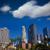 Los · Angeles · linha · do · horizonte · céu · edifício · fundo · silhueta - foto stock © lunamarina