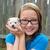 belo · criança · menina · retrato · cachorro · cãozinho - foto stock © lunamarina