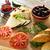 pan · petróleo · aceitunas · queso · pimientos - foto stock © lunamarina